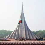 Bangladesh's national martyres monument in Dhaka. (Photo by nasir khan, CC license)