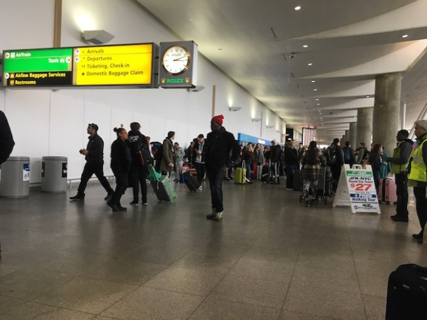 New York's JFK Airport was scene of spontaneous protests after President Trump's first immigration order on jan 27th. (Photo by ViewsWeek)
