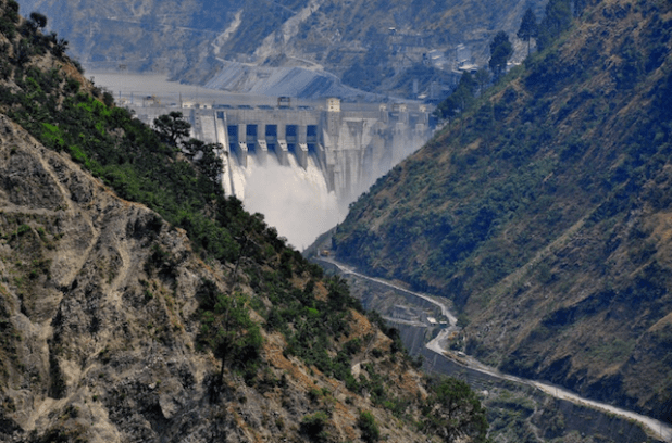 The Baglihar dam, also on the Chenab, in J&K. (image by: ICIMOD, via thethirdpole.net)