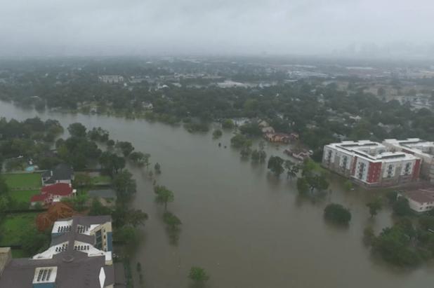 Hurricane Harvey submerged more than one-third of Houston. (Photo via video stream)