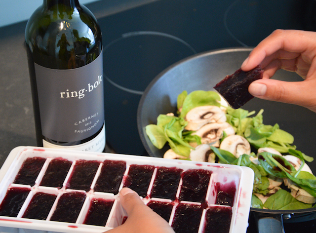 Freezing leftover wine is perfect for cooking!