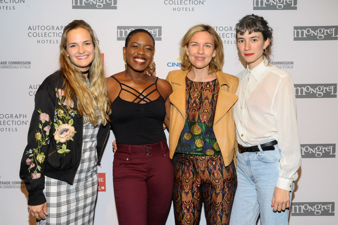 Left to right, Producer Sarah Jane Inwards, writer Amanda Idoko, Bronwyn Cosgrave, Producer Chiara Towne attend the Mongrel Media Celebrates TIFF At Mongrel House. (Photo: Che Rosales/Getty Images for Mongrel Media) | View the VIBE