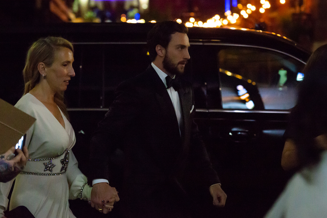 TIFF 2018 afterparties - Sam and Aaron Taylor Johnson arriving at Patria for the premiere party of Outlaw King | View the VIBE