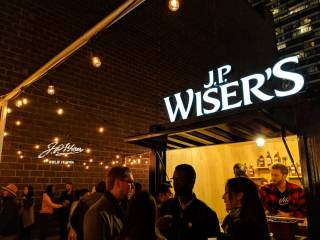 J.P. Wiser's Old Fashioned Whisky Cocktail - Hold It High pop-up Toronto Nuit Blanche   View the VIBE Toronto