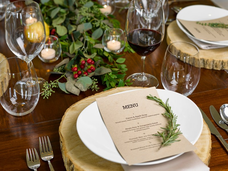 Holiday Hosting Table Settings - View the VIBE Toronto