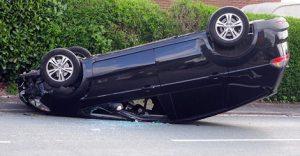 car overturns SXM