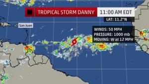 tropical storm danny 4