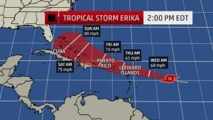 tropical storm erika 3