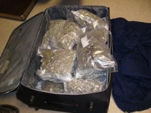 marijuana in luggage
