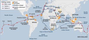 modern day piracy routes