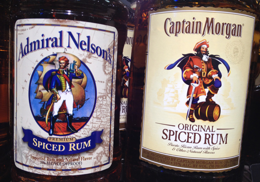 Captain Morgan Gets A Yo Ho And Admiral Nelson No In Knock Off Hooch Suit Over Trademark Infringement