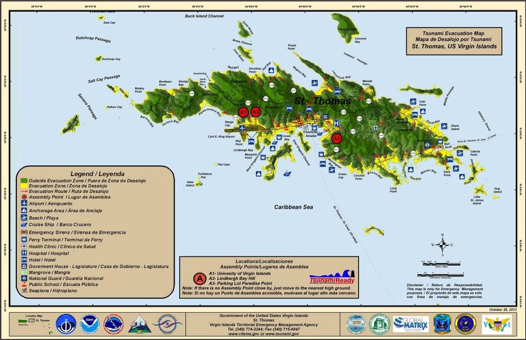 St croix virgin islands and tsunamis