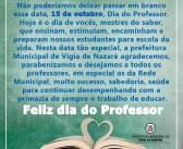Homenagem ao Dia do Professor