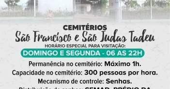 Horários de Funcionamento Cemitérios