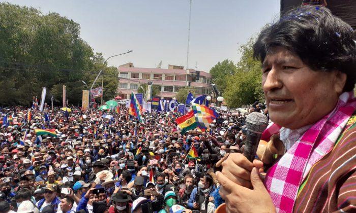 Evo se da un baño de masas en su retorno a Bolivia