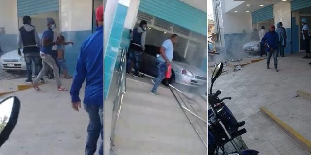 Al menos 12 personas heridas al penetrar vehículo en centro de salud Los Guaricanos