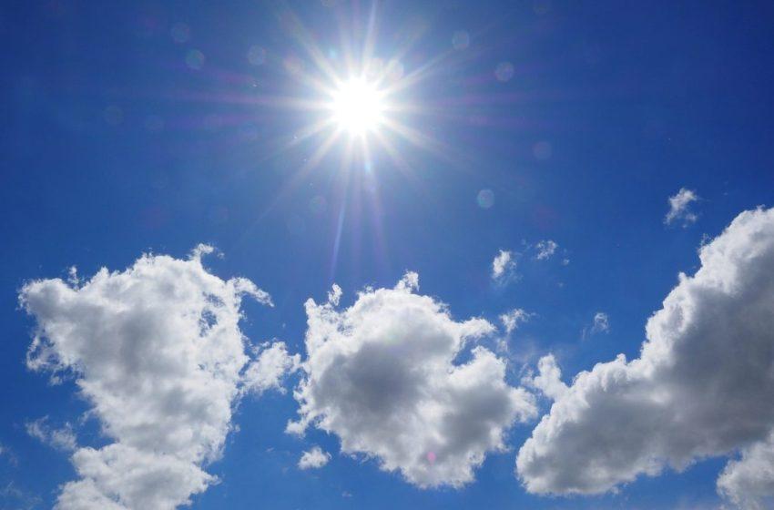 La ONAMET pronostica estaremos mayormente soleado con nubes dispersas en gran parte del país