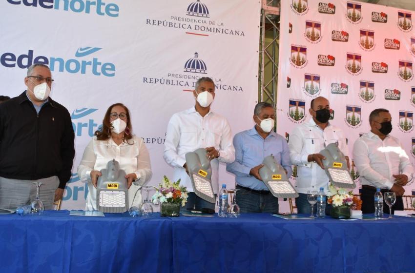 EDENORTE inicia iluminación en distrito municipal Tavera