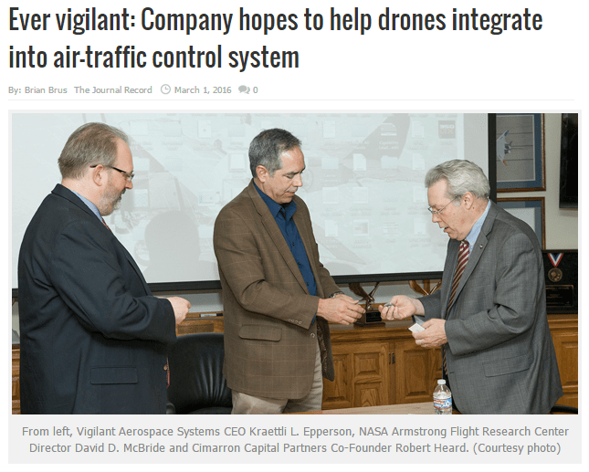 The Journal Record: Ever vigilant: Company hopes to help drones integrate into air-traffic control system
