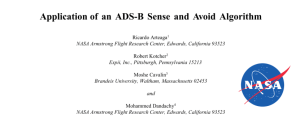 Application of an ADS-B Sense and Avoid Algorithm_title w NASA