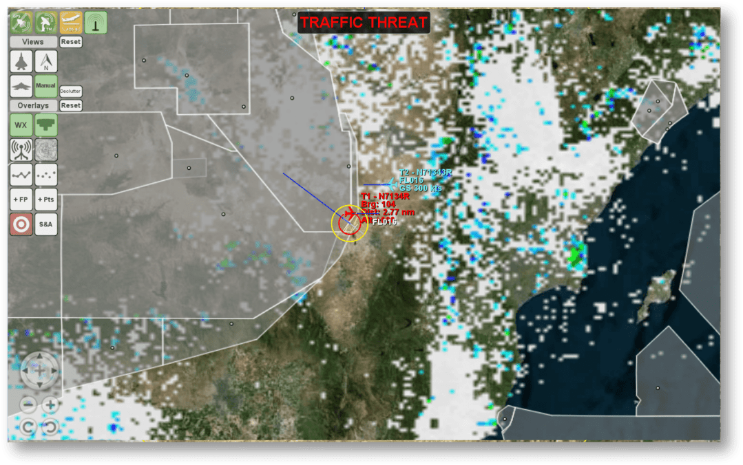 FlightHorizon Weather Radar and ATC information