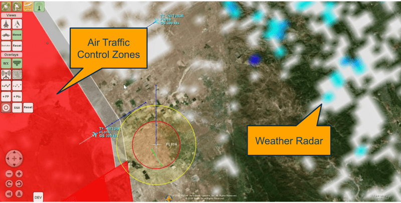 </p> <h4>Air Traffic Control</h4> <p>View and identify Air Traffic Control (ATC) zones with a quick click on the map.</p> <h4>Weather Radar</h4> <p>FlightHorizon provides overlays of weather radar data from the FAA received over ADS-B or an internet connection.