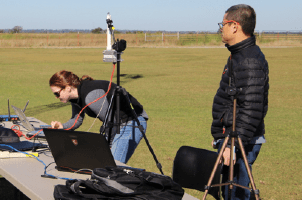 Vigilant Aerospace team working on-site for the beyond visual line-of-sight flight operations at OSU Unmanned Flight Station