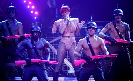 Pics from Rihanna's Show: All About Police State and Transhumanism  1