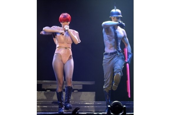 Pics from Rihanna's Show: All About Police State and Transhumanism  5