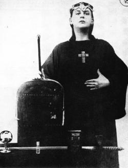 Crowley in magician regalia