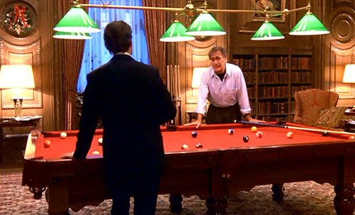 Taking place in Zeigler's pool room, the back and forth between the two men is more intense than any game of pool.