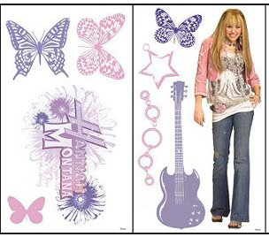 Miley's image has been heavily marketed by Disney since the days of Hannah Montana - a girl who (appropriately enough) had a stage alter persona. Hannah Montana products often had butterflies on them, maybe a slick reminder of how she was a Disney programming slave.