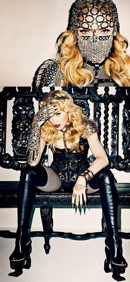 Madonna in Harper Bazaar.