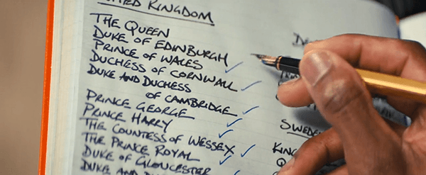 Richmond has a notebook of the people he wants to save by bringing to his remote base while the world dies. Notice that there are no