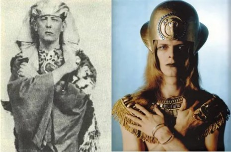 Aleister Crowley and David Bowie.