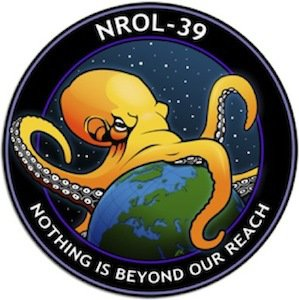 "When the NRO released in space its spy satellite NROL-39 (which is used for mass surveillance) features a giant octopos engulfing the world with the words ""Nothing is beyond our reach""."