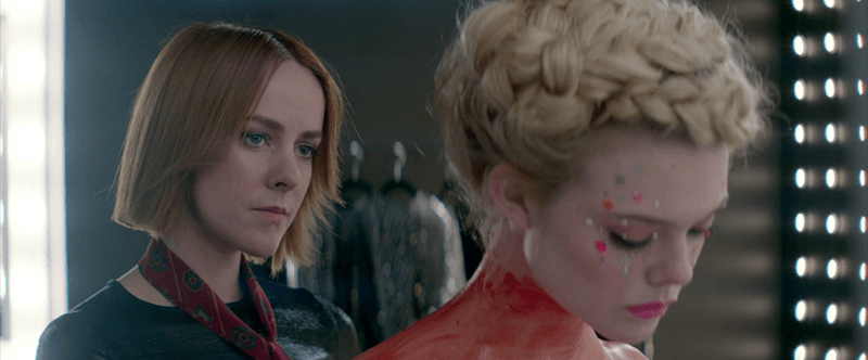 """As Jesse reveals that she's a young and vulnerable model, Ruby gives her intense looks as if saying: """"You're perfect for our blood sacrifice""""."""