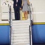 Joseph Biden a su llegada a la Capital Dominicana.