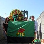El Partido de los Trabajadores Dominicanos (PTD) depositó ofrendas florales a los Héroes del 14 de Junio de 1959. (Fotos: Genris García)
