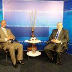 El ex presidente de la Suprema Corte de Justicia, Jorge Subero Isa, entrevistado por el periodista Federico Méndez.