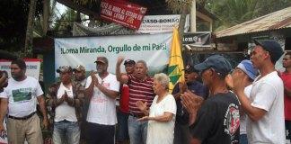 Fernando Hernández, vocero del MPD, en Campamento en Loma Mirnada