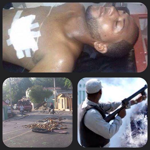 Tres civiles y dos policías heridos en paro de Salcedo