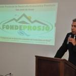 Carlos Castillo, presidente del FONDEPROSJO durante su intervención
