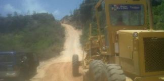 Trabajos de reparación carretera Bahía de las Aguilas
