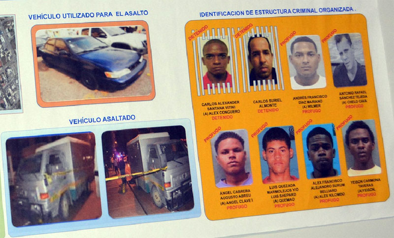 Capturan 2 de 8 hombres asaltaron camión de valores y mataron un vigilante e hirieron otro