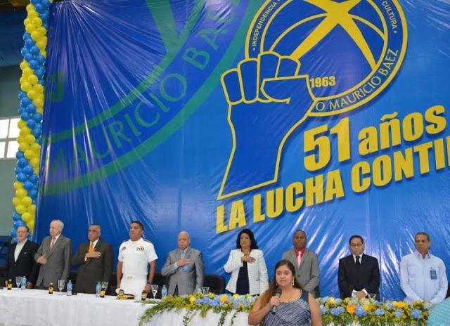 Acto para conmemorar el 51 aniversario del Club Mauricio Báez
