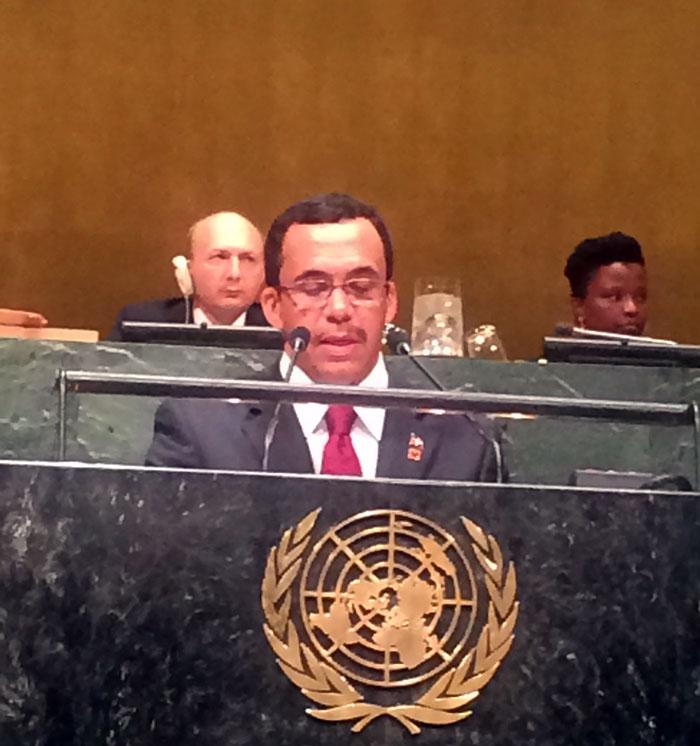 Canciller presenta avances experimentados por la República Dominicana en desarrollo humano
