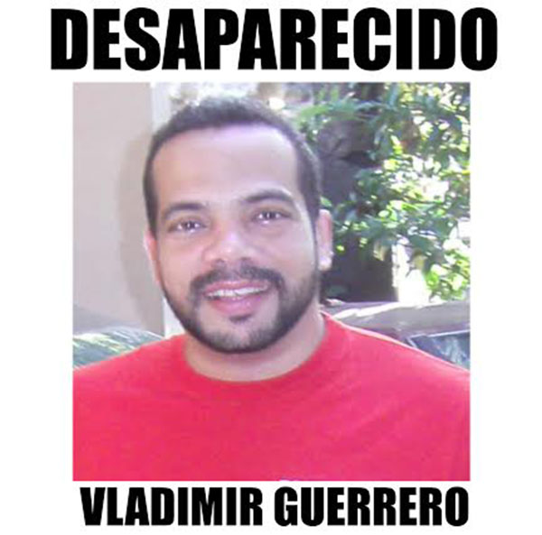 Mercadólogo Vladimir Francisco Guerrero Frías, desaparecido
