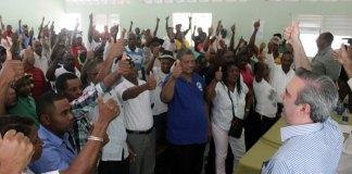 Miembros del PRD que pasaron a las filas del PRM y a respaldar la candidatura de Luis Abinader en esa demarcación.