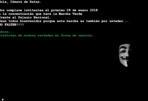 Vuelven a hackear página de la Cámara de Diputados